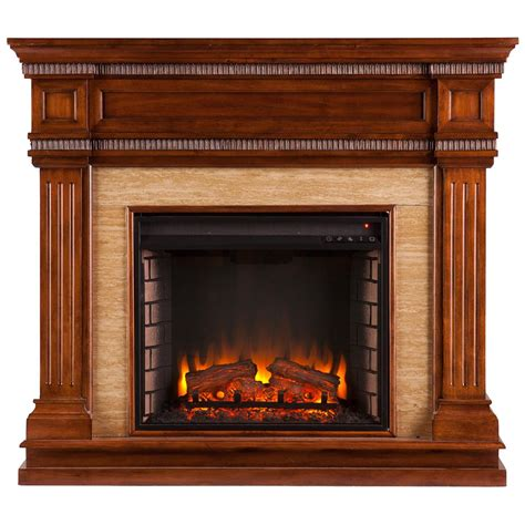 southern enterprises faircrest electric fireplace oak