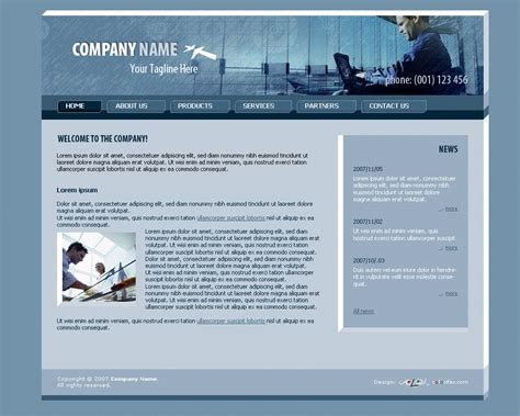 Web Templates In Photoshop Http Webdesign14 Com Photoshop Website Templates