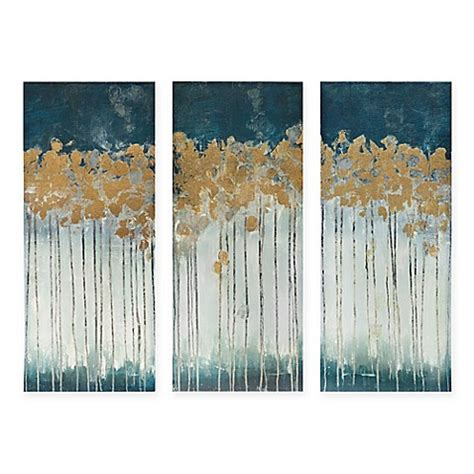 bed bath and beyond forest park madison park midnight forest 3 piece canvas wall art bed bath beyond