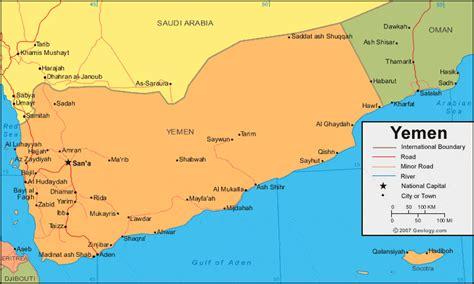 yemen map  satellite image