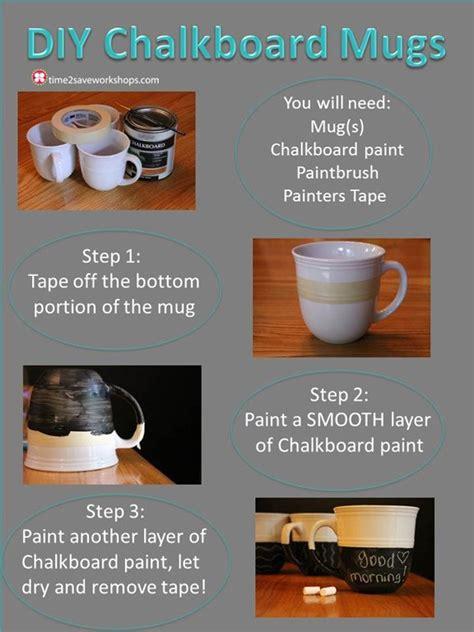 diy chalkboard coffee mug chalkboard mugs ideas diy projects