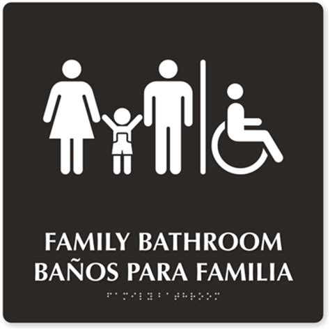 family bathroom sign family restroom signs