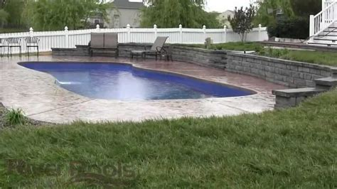 Inground Pool Designs by Gorgeous Fiberglass Pool W Retaining Wall Solutions For