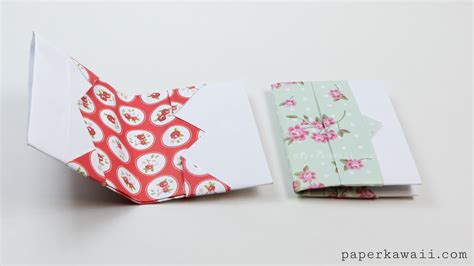 Origami Wallets - origami card wallet tutorial paper kawaii