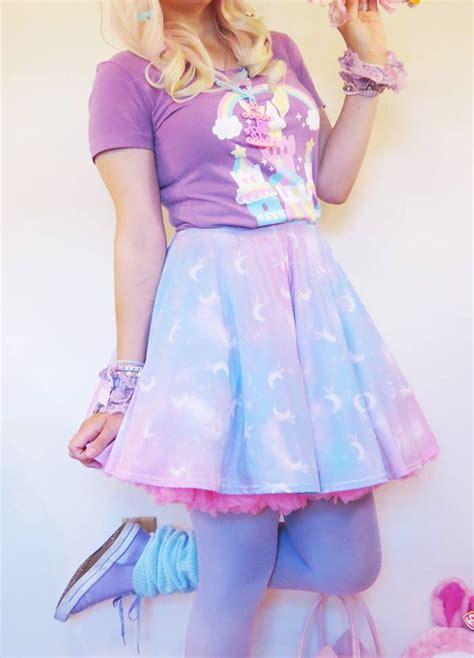 Pop Skirt twinkle heaven skater skirt made to order kei