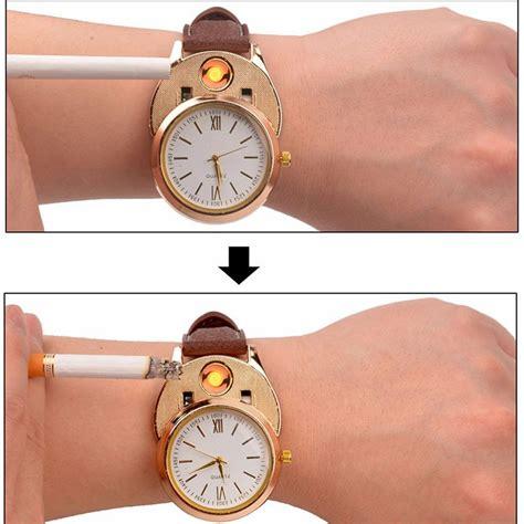 Jam Tangan Kasual Dengan Korek Elektrik Usb Hitam Silver jam tangan kasual dengan korek elektrik usb black silver jakartanotebook