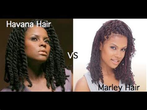 difference between afro twist and marley hair 90 marley hair vs havana hair youtube