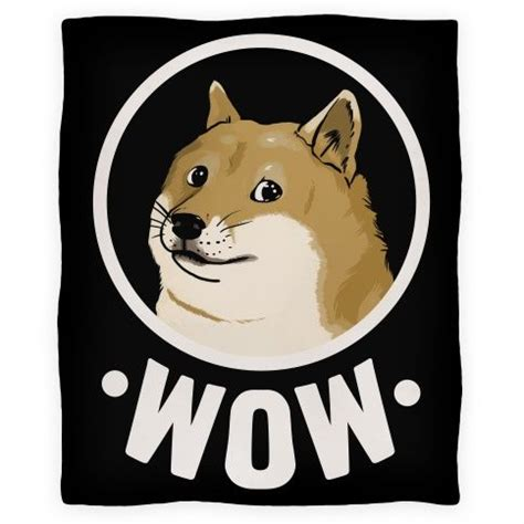 Meme Dog Wow - doge very blanket blankets fleece blankets and throws