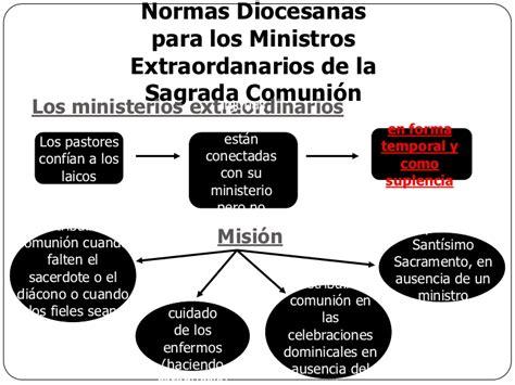 guia para los ministros extraordinarios de la sagrada normas para los ministros extraordinarios de la eucaristia