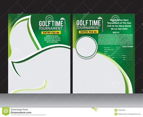 golf for flyer clipart