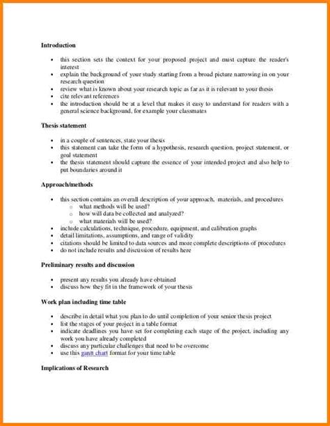 How To Write A Thesis Template 8 exle of outline project template