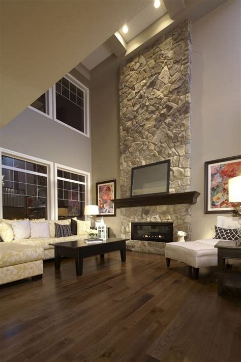 high ceiling fireplace    fireplacemaybe