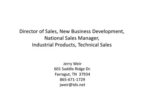 Product Marketing Director And Mba And Industrial by Sales Manager Sales Director New Business Development