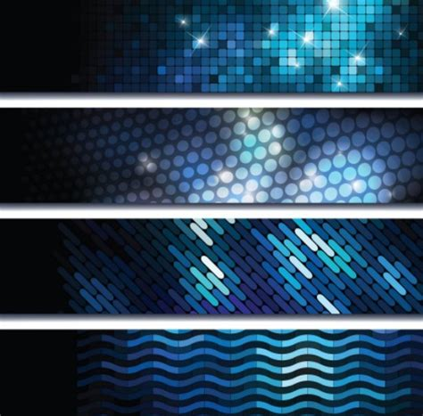 pattern photoshop technology free set of bright blue abstract hi tech banners vector