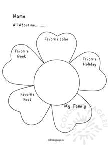 about me page template all about me activity sheet coloring page
