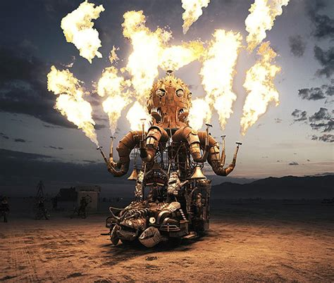 surreal photos of the burning man festival