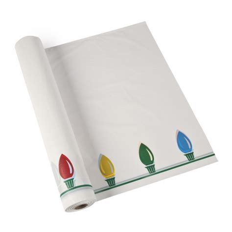 christmas lights tablecloth roll
