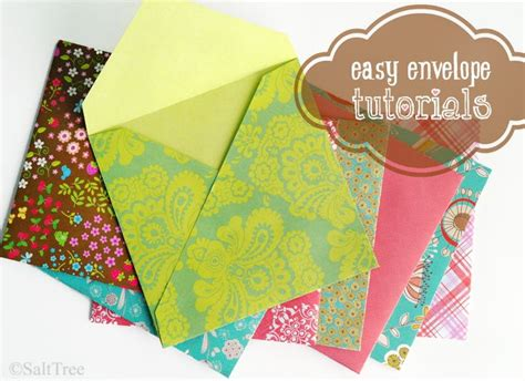 Handmade Envelope Tutorial - envelopes envelope tutorial and diy envelope on