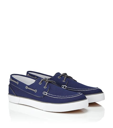 polo boat shoes polo ralph lander boat shoe in blue for lyst