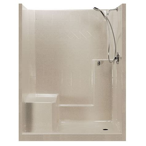 3 Shower Stall With Seat 60x32 Standard Centurystone One Low Threshold
