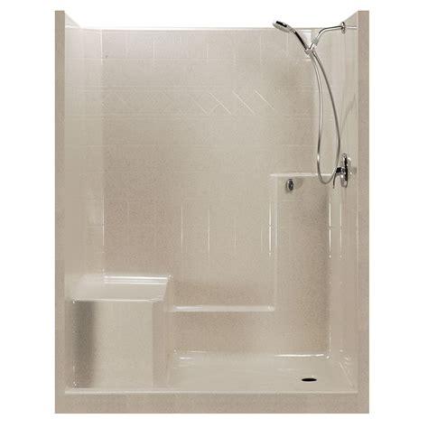 shower stalls with seat 60x32 standard centurystone one low threshold