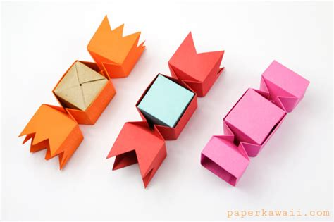 Origami Using Square Paper - square origami box paper kawaii