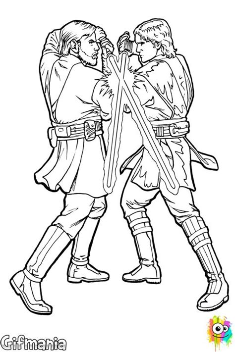 sith coloring pages wars anakin vs obi wan coloring pages kid