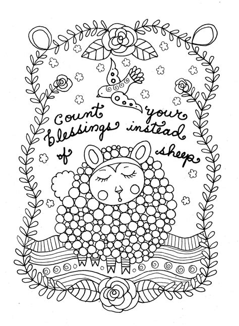counting sheep coloring page printable coloring page count sheep christian art girls room