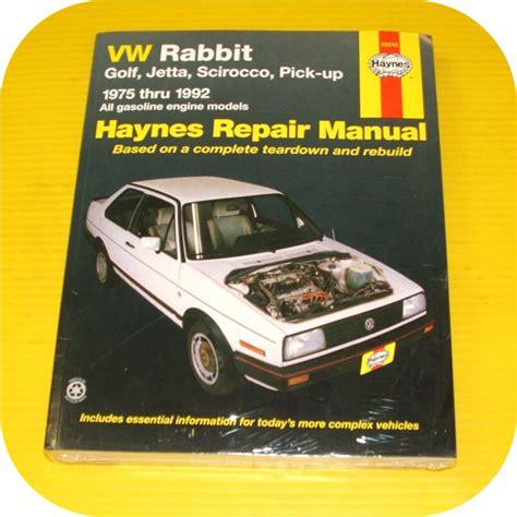 used haynes vw rabbit jetta scirocco pick up convertible gasoline engine 1975 1992 auto repair repair manual book vw rabbit jetta scirocco gas owners ebay
