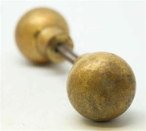 spherical brass knob set olde things