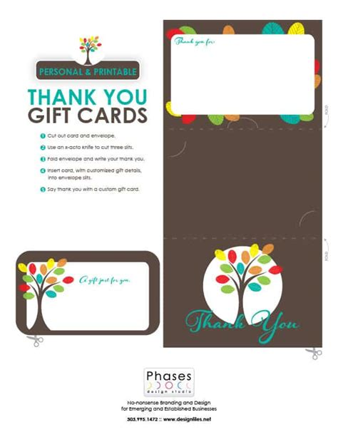 printable gift certificates customizable custom printable gift cards phases design studio