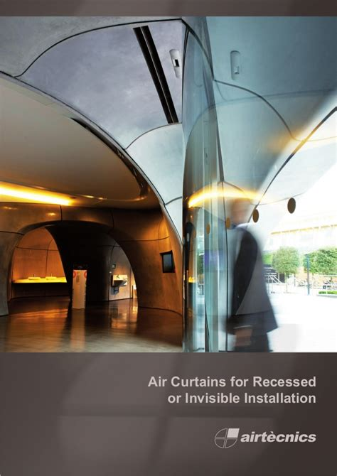 air curtain catalogue air curtains for recessed or invisible installation catalogue