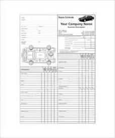 repair form template repair estimate template 18 free word excel pdf