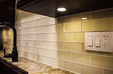 cream glass subway tile kitchen backsplash subway tile
