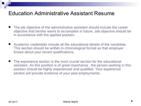 Administrative Assistant Resume Education Education Administrative Assistant Resume 4