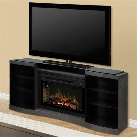 Entertainment Center With Electric Fireplace Acton Silver Charcoal Multi Xd Electric Fireplace Entertainment Center W Logs Gds33hl 1246sc