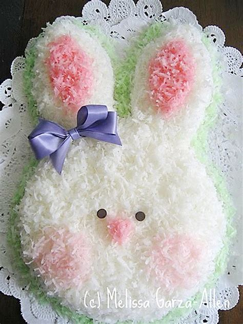 Coconut Easter Bunny Face Cake Cheap Easy Healthy