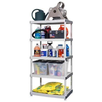 Hdx 5 Shelf by 5 Shelf 24 In D X 36 In W X 72 In H Plastic Ventilated