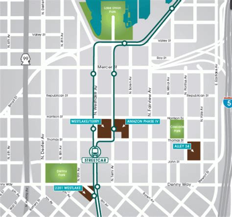 seattle map south lake union vulcan offers 2 parking in south lake union seattlepi