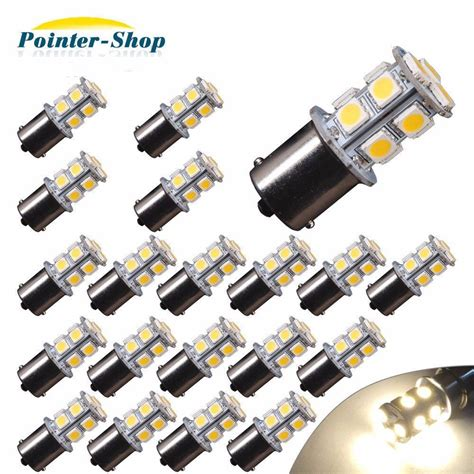 Led Light Bulbs For Rv Interior 20x Warm White 1156 13 Smd Rv Cer Trailer Led Interior Light Bulbs 1141 12v Ebay