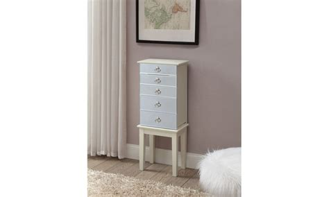 jewelry armoire vanity set mirrored front jewelry armoire or vanity set livingsocial