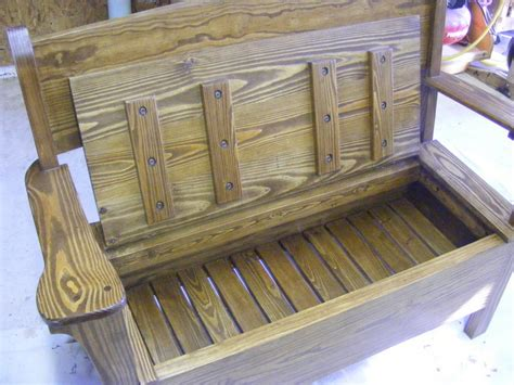 deacon bench plans deacon s bench with storage by dave105 lumberjocks com
