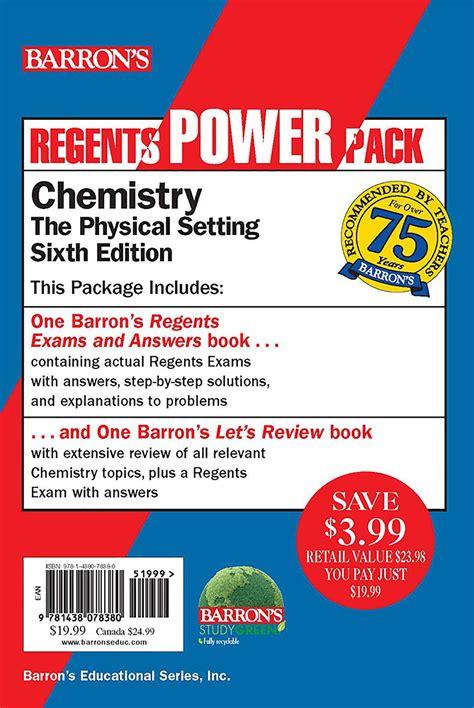 Regents Chemistry Power Pack Let S Review Chemistry