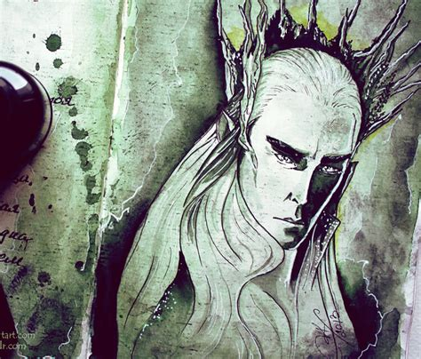 kinkos tattoo paper thranduil watercolor painting by kinko white no 2563