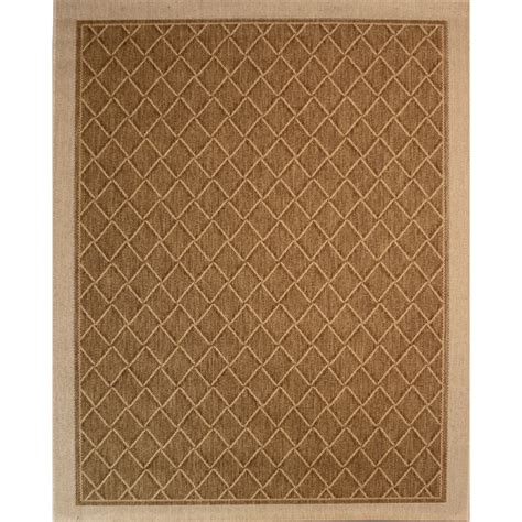 8 x 10 rugs lowes shop society page rectangular brown geometric indoor outdoor woven area rug common 8 ft x 10