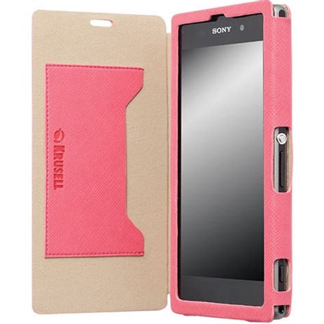 Casing Hp Sony Xperia Z1 jual krusell malmo flipcover for sony xperia z1 pink