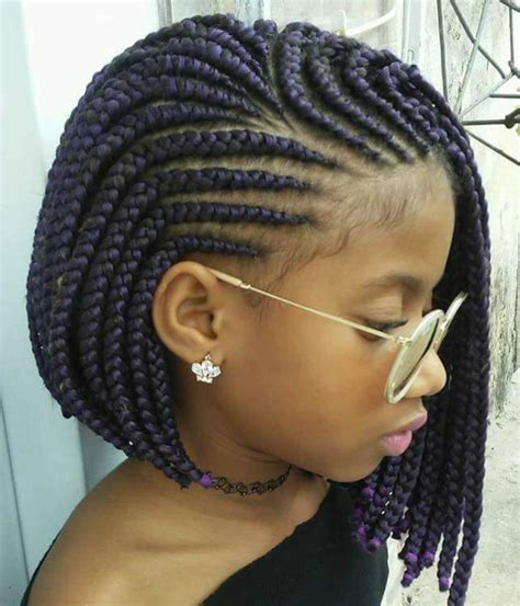 corn row kids braids bob bob bobcut braids bobhair hairgoal