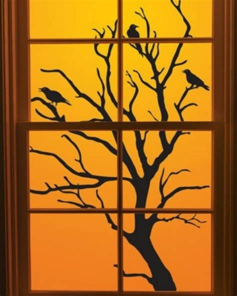 herbst fenster kinderzimmer fensterbilder basteln ideen f 252 r kinderzimmer herbstbaum