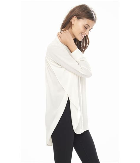 Tunic Blouse lyst express sleeve pleated tunic blouse in white