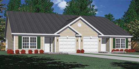 Duplex House Plans With Garage Houseplans Biz House Plan D1261 B Duplex 1261 B